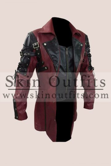 Red Gothic Matrix Steampunk Coat
