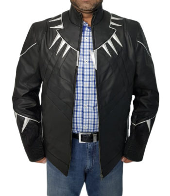 BLACK PANTHER MOVIE LEATHER JACKET..