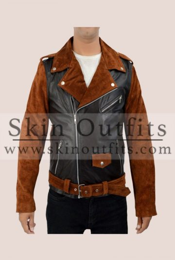 ROUTE 66 BIKER LEATHER JACKET