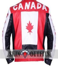Canadian Flag Biker Bomber Jacket