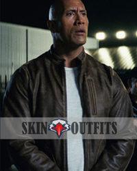 Dwayne Johnson Rampage Brown Leather Jacket
