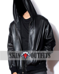 Men's New Style Leather Hoodie