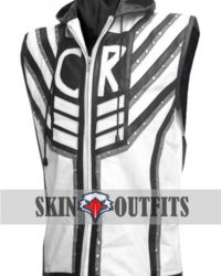 WWE Superstar Cody Rhodes Black And White Leather Vest