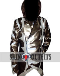 White Golden Print Assassin Creed Fashion Coat