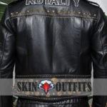 Men's Fashion Royalty Black Leather Jacket