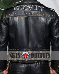 Men's Fashion Royalty Black Leather Jacket