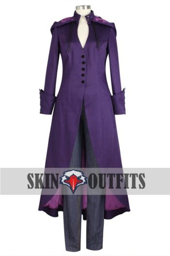 GOTHIC PURPLE TRENCH LONG COAT