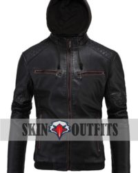 Mens Faux Leather Motorcycle Jacket