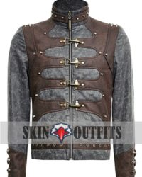 steampunk zipped short punk jacket
