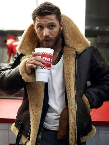 tom hardy shearling jacket