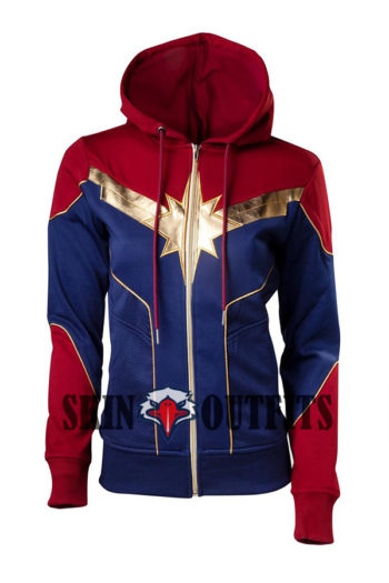 captain red and blue hoodie