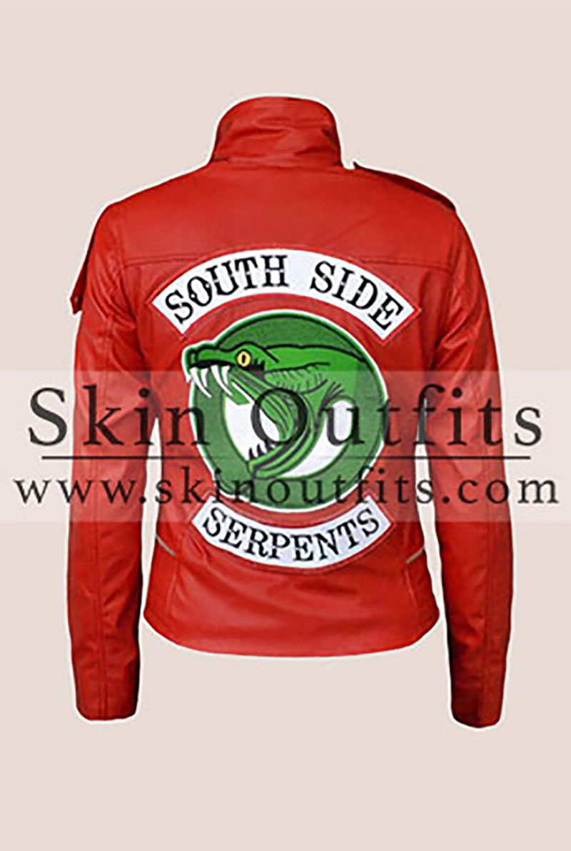Red Southside Serpent Leather Jacket - Skinoutfits